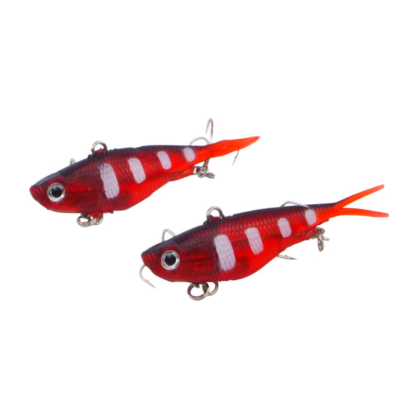 Swimerz 95mm Soft Vibe Opaque Red, 2 pack - Ghillie Outdoors Hunting & Fishing