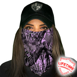 SA Company Face Shield - SA Purple Forest Camo *FREE SHIPPING* - Ghillie Outdoors Hunting & Fishing