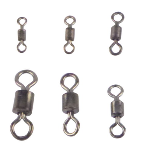 Swimerz Size 2 Rolling Swivels Black Nickel, 15 pack
