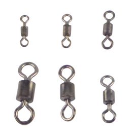 Swimerz Size 4 Rolling Swivels Black Nickel, 15 pack - Ghillie Outdoors Hunting & Fishing