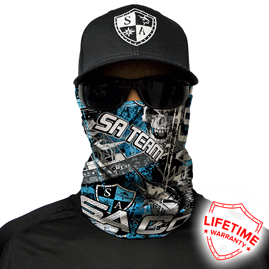 SA Company Face Shield - Saltwater Chaos *FREE SHIPPING* - Ghillie Outdoors Hunting & Fishing