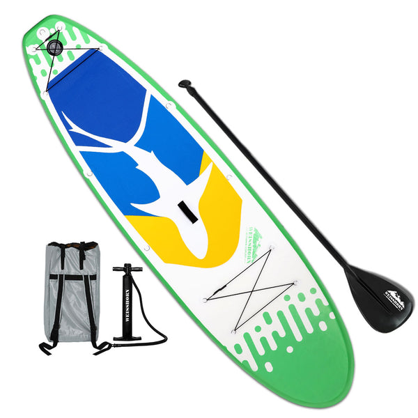 Weisshorn 10FT Stand Up Paddle Board Inflatable SUP Surfborads 10CM Thick - Ghillie Outdoors Hunting & Fishing