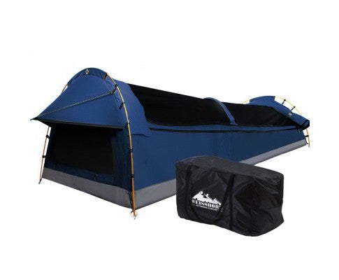 Weisshorn Double Swag Camping Swag Canvas Tent - Dark Blue - Ghillie Outdoors Hunting & Fishing