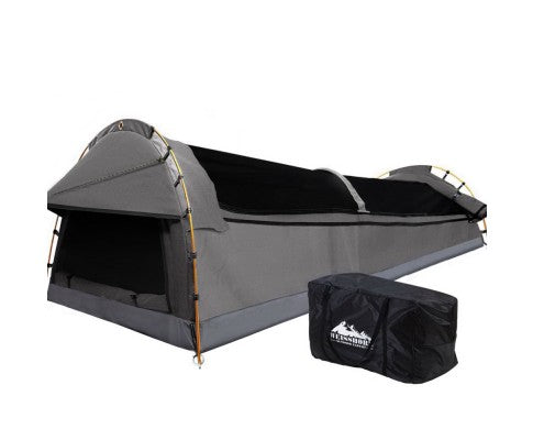 Weisshorn Double Swag Camping Swag Canvas Tent - Grey - Ghillie Outdoors Hunting & Fishing