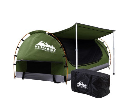 Weisshorn Double Swag Camping Swag Canvas Tent - Celadon - Ghillie Outdoors Hunting & Fishing