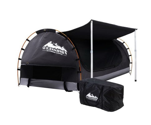 Weisshorn Double Swag Camping Swag Canvas Tent - Dark Grey - Ghillie Outdoors Hunting & Fishing
