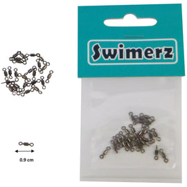 Swimerz Size 10 Rolling Swivels Black Nickel, 25 pack - Ghillie Outdoors Hunting & Fishing