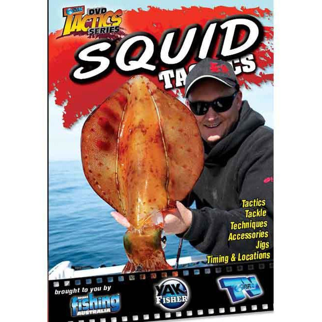 AFN SQUID TACTICS FISHING DVD HOW TO GUIDE *FREE SHIPPING*