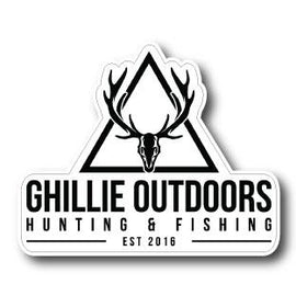 Ghillie Outdoors Hunting & Fishing Decal - Free Shipping - Ghillie Outdoors Hunting & Fishing