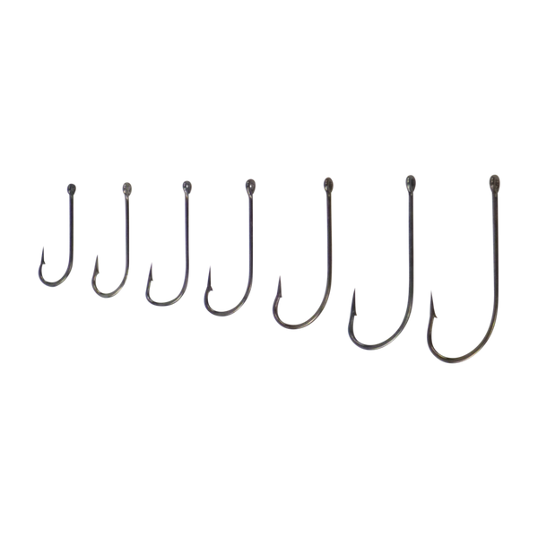 Swimerz 3/0 Long Shank Worm Hook, O'Shaunessy Style, Black Nickel, Value Pack of 25 - Ghillie Outdoors Hunting & Fishing