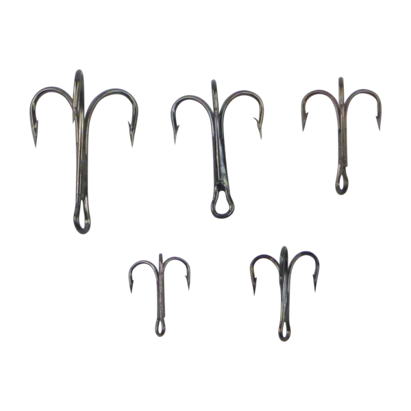 Swimerz  Striker Trebles Size 8 Black Nickel, 14 pack - Ghillie Outdoors Hunting & Fishing