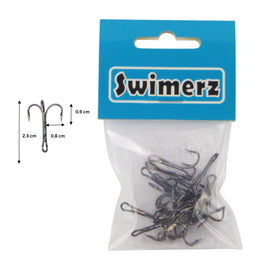 Swimerz  Striker Trebles Size 4 Black Nickel, 12 pack - Ghillie Outdoors Hunting & Fishing