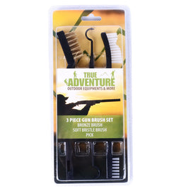 3 Piece Rifle Shotgun Gun Cleaning Brush Set With Picks
