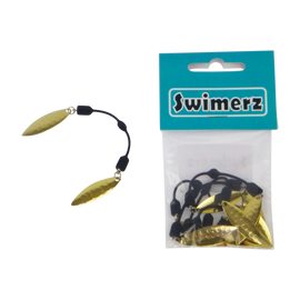 Swimerz Tail Spinner Hammered Brass, 5 pack - Ghillie Outdoors Hunting & Fishing