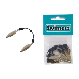 Swimerz Tail Spinner Hammered Nickel, 5 pack - Ghillie Outdoors Hunting & Fishing