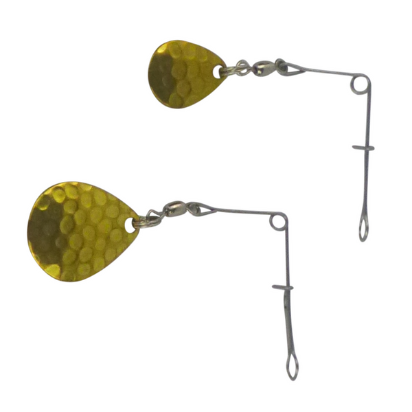 Swimerz Jig Spinner Lge Hammered Brass, 5 pack - Ghillie Outdoors Hunting & Fishing