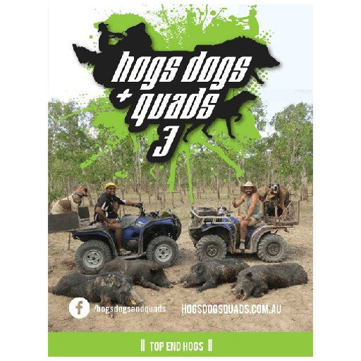HOGS DOGS & QUADS PART 3 - WILD PIG HUNTING DVD *FREE SHIPPING* - Ghillie Outdoors Hunting & Fishing