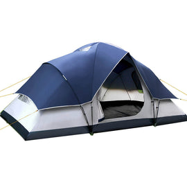 Weisshorn 6 Person Family Camping Tent Navy Grey - Ghillie Outdoors Hunting & Fishing