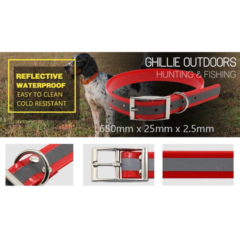 HI VIZ ORANGE REFLECTIVE YARD COLLAR **FREE SHIPPING AUST WIDE**