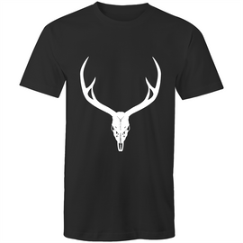 GOHF Mens Tee With Large Sambar Stag Skull - Ghillie Outdoors Hunting & Fishing