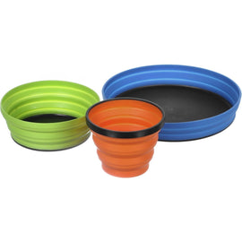 Sea To Summit X-SET 3 Collapsible Mug, Bowl & Plate Set (XSET3)