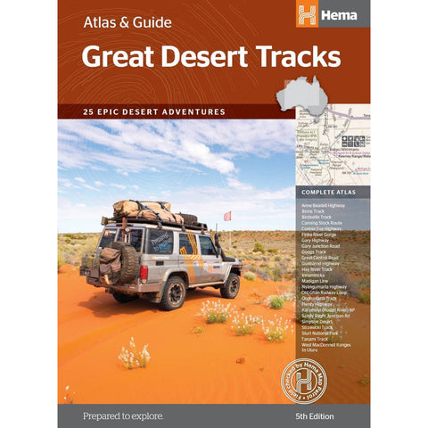 HEMA GREAT DESERT TRACKS AUSTRALIA ATLAS AND GUIDE 5TH EDITION 2018  *FREE SHIPPING*