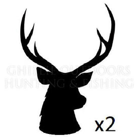 2x Sambar Stag Silhouette Vinyl Decal **FREE SHIPPING** - Ghillie Outdoors Hunting & Fishing