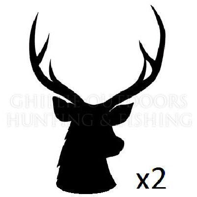 2x Sambar Stag Silhouette Vinyl Decal **FREE SHIPPING**