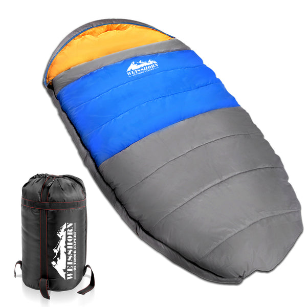 Weisshorn Extra Large Sleeping Bag - Blue & Grey - Ghillie Outdoors Hunting & Fishing