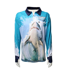 AFN Solar Fishing Shirt - Great White Shark FREE SHIPPING