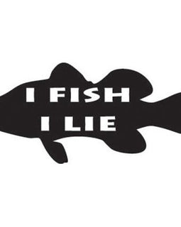 """I FISH, I LIE"" Vinyl Decal  **FREE SHIPPING** - Ghillie Outdoors Hunting & Fishing"