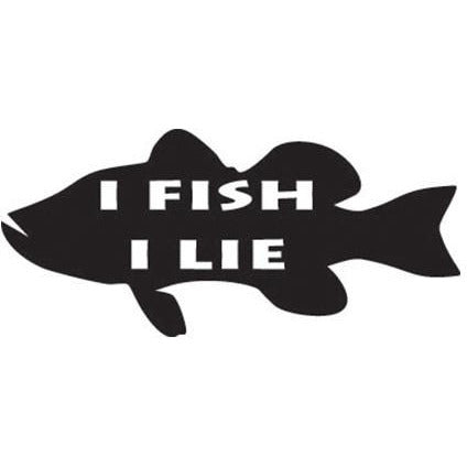 """I FISH, I LIE"" Vinyl Decal  **FREE SHIPPING**"