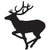 Running Stag Vinyl Decal **FREE SHIPPING** - Ghillie Outdoors Hunting & Fishing