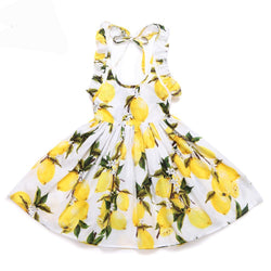 Vintage Lemon Girls Sun Dress