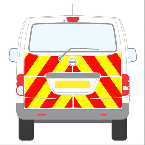 Nissan NV200 10-Present Tailgate Half Rear with wiper
