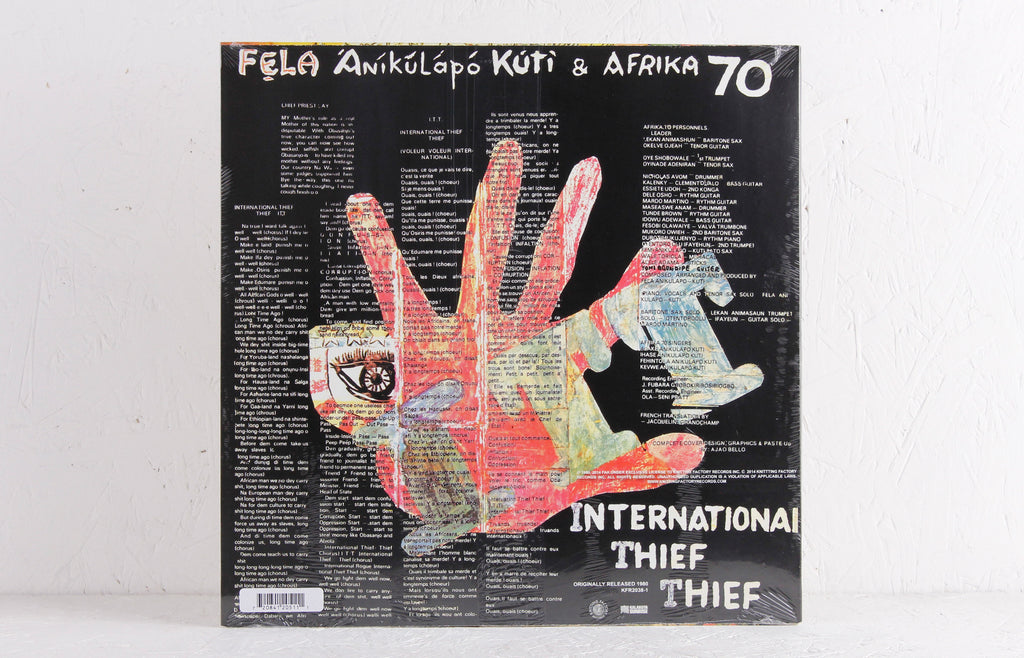 Fela Kuti - International Thief Thief (I.T.T.) – Vinyl LP