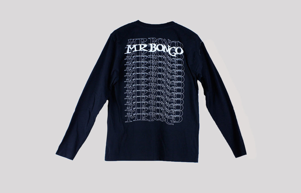 Mr Bongo Long Sleeve T-Shirt – Bongo Repeater (Black & White)