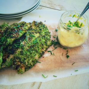 BROCCOLI & CAULIFLOWER CRUMBED CHICKEN