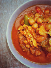Sweet tomato fish curry