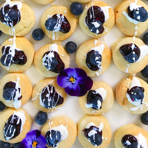 Mini Scones with Blueberry Chia Jam and Fresh Cream (available GF)