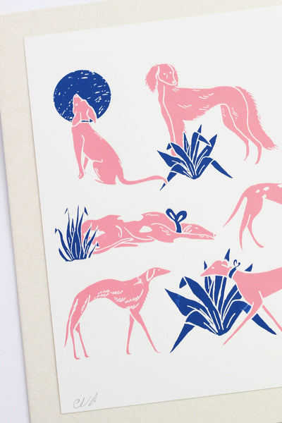 PINK DOGS PRINT