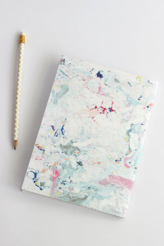 MULTICOLORED MARBLE NOTEBOOK