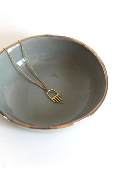 GREY JEWELRY DISH