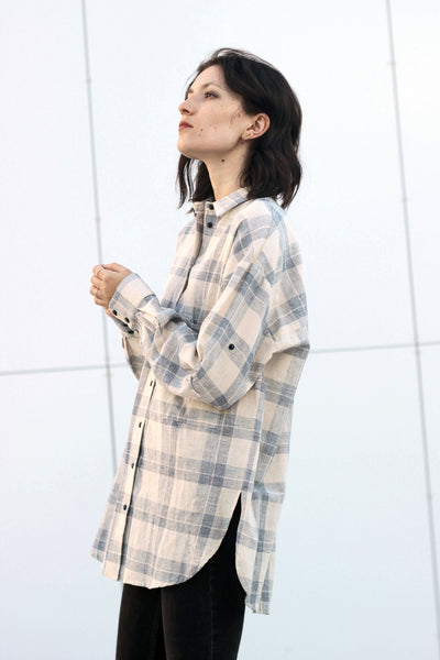 PLAID POLLY BLOUSE