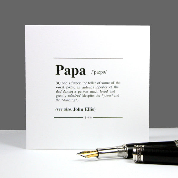 Personalised 'Papa' Definition Gift Mug