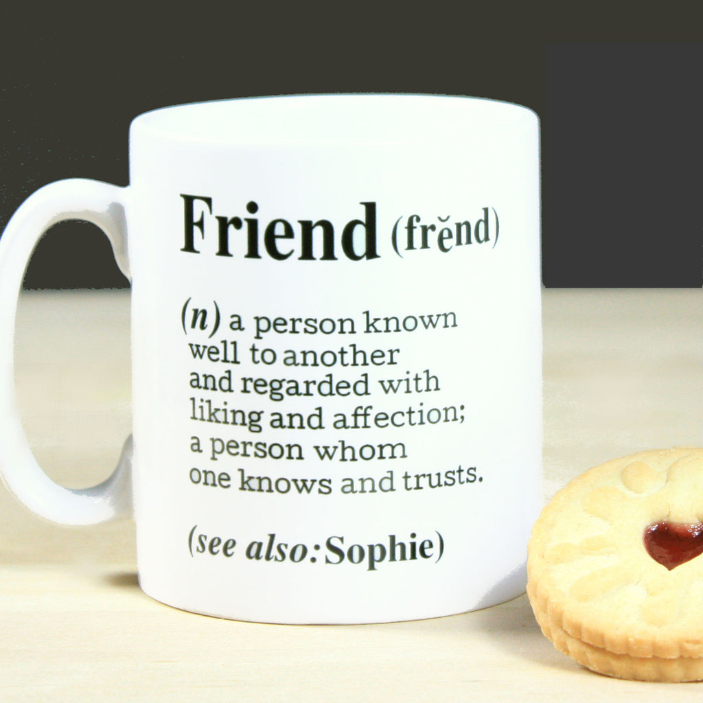 Personalised Friend Definition Gift Mug