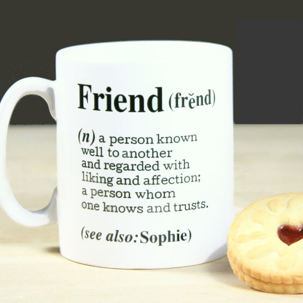 Personalised 'Friend' Definition Card