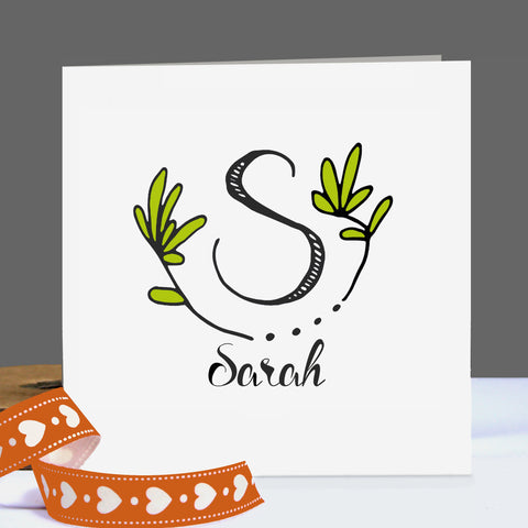 Botanical Greetings Card