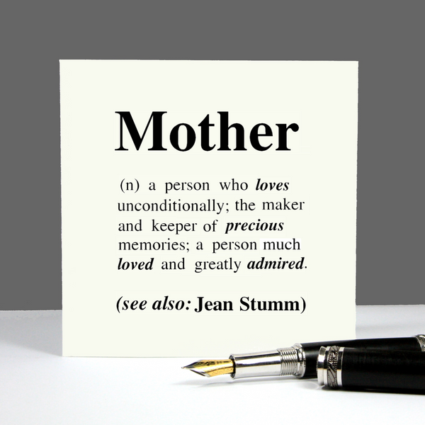 Mother Definition Personalised Gift Mug
