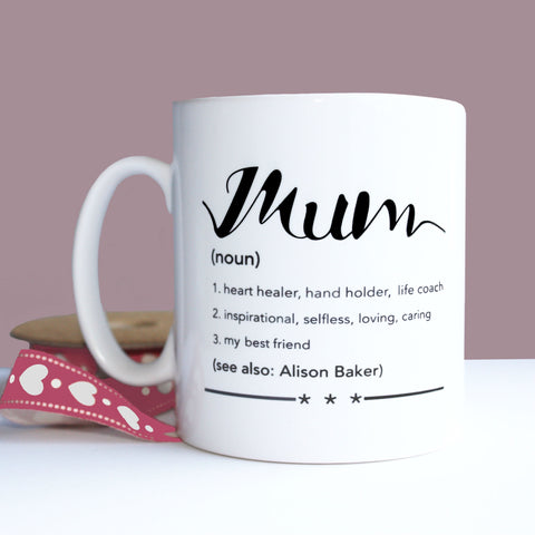 Mum Definition Personalised Gift Mug